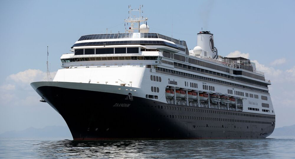 The cruise ship MS Zaandam is pictured after four passengers have died on board, as the coronavirus disease (COVID-19) outbreak continues, in Panama City, Panama March 27, 2020.
