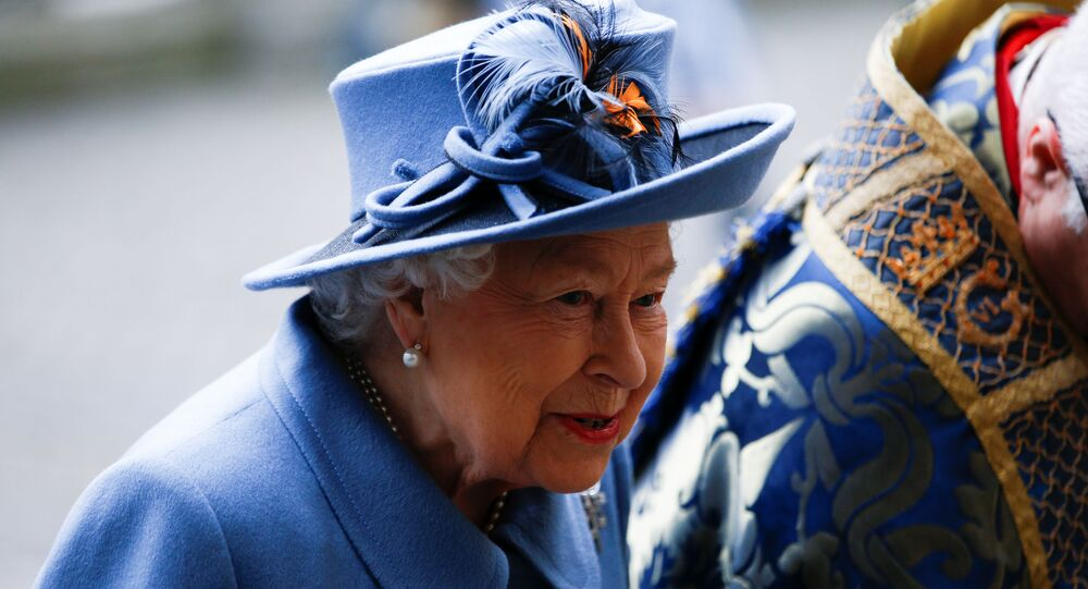 Britain's Queen Elizabeth II arrives for the annual Commonwealth Service at Westminster Abbey in London, Britain March 9, 2020.