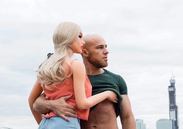Yuri Tolochko and his plastic girlfriend Margo