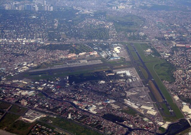 Aerial view of the Ninoy Aquino International Airport in Metro Manila, the Philippines
