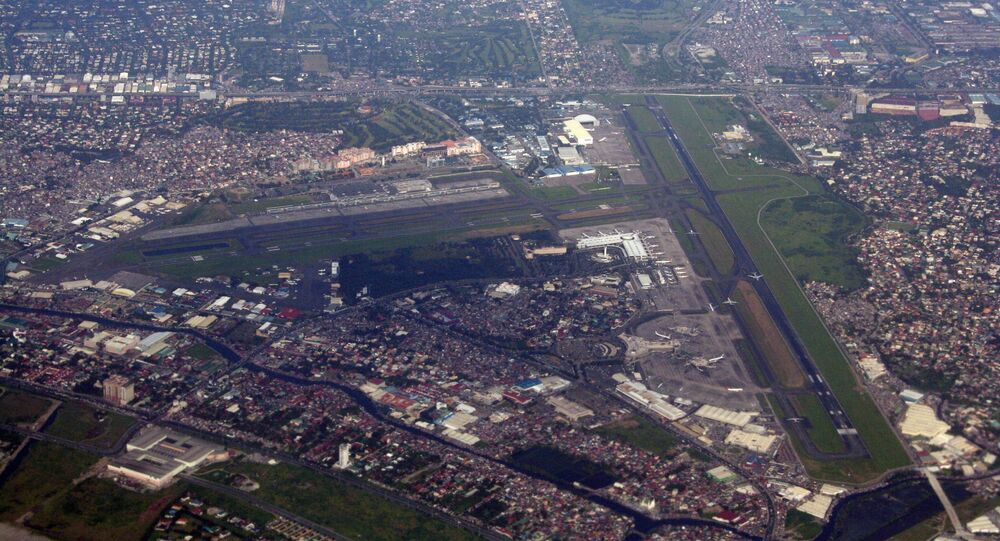 Aerial view of the Ninoy Aquino International Airport in Metro Manila, the Philippines