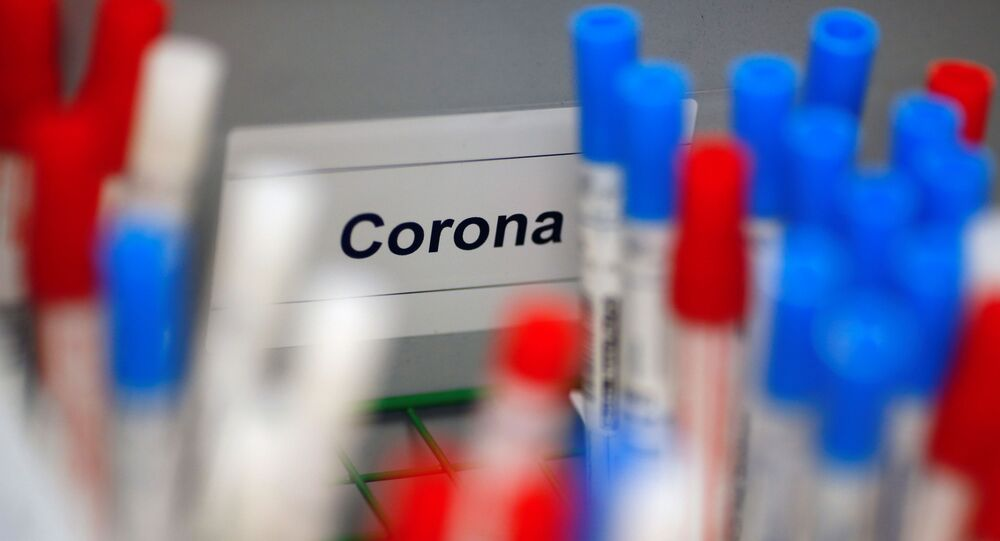Plastic vials containing tests for the coronavirus are pictured at a medical laboratory in Cologne, Germany, March 24, 2020, as the spread of the coronavirus disease (COVID-19) continues. Picture taken March 24, 2020.