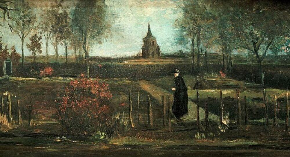 Vincent van Gogh – Parish garden in Nuenen, Spring