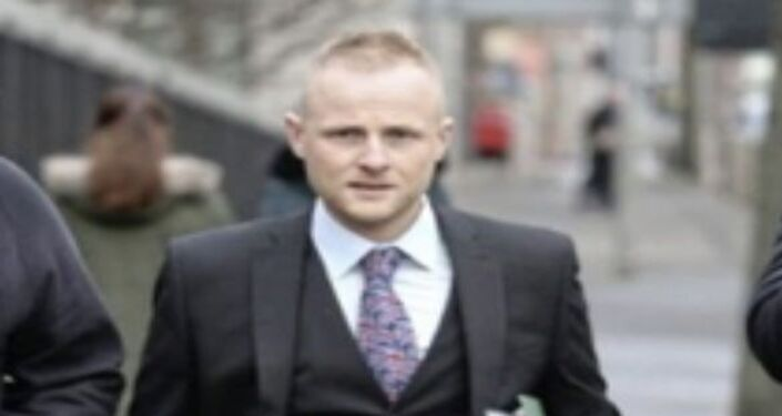 Jamie Bryson, a unionist blogger, who has been charged with conspiracy to commit misconduct in public office