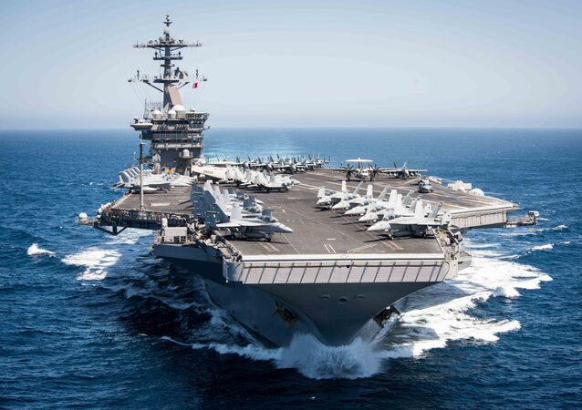 This US Navy file handout photo shows the aircraft carrier USS Theodore Roosevelt (CVN 71)as it transits the Pacific Ocean while conducting a tailored ship's training availability off the coast of Southern California on April 30, 2017.