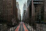 Empty street in downtown New York