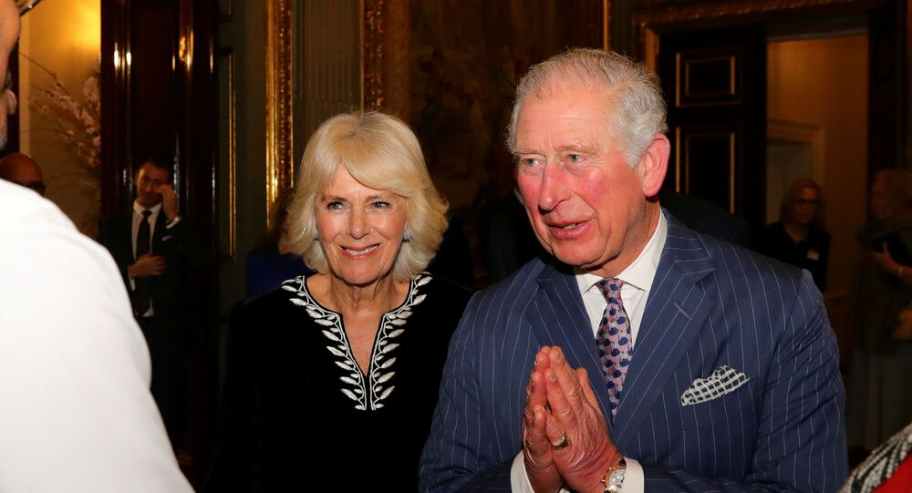 Britain's Prince Charles and Camilla, Duchess of Cornwall attend the Commonwealth Reception at Marlborough House, in London, 9 March 2020