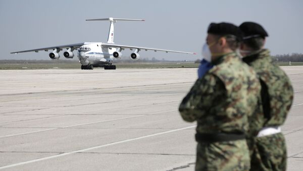 Russian planes with humanitarian aid have arrived in Serbia - Sputnik International