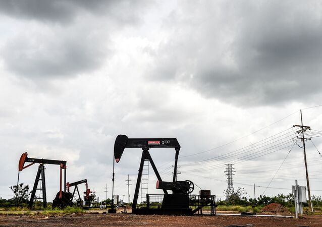 View of oil seesaws on May 2, 2018 in Maracaibo, Venezuela.