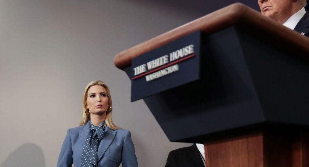 White House senior advisor Ivanka Trump attends her father U.S. President Donald Trump's daily coronavirus task force briefing at the White House in Washington, U.S., March 20, 2020.