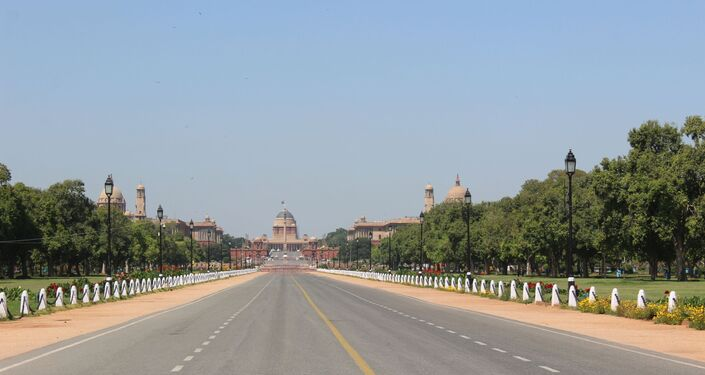 Rastrapathi Bhavan or Presidential Palace – the road in front of Rastrapathi Bhavan is the venue for India's annual Republic Day Parade. The central vista connecting Rastrapathi Bhavan and India Gate is always crowded, but completely deserted now during the lockdown.
