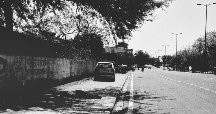Delhi's roads, infamous for having a heavy traffic, today look deserted.