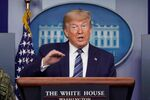 U.S. President Donald Trump speaks about the novel coronavirus disease (COVID-19) outbreak during the daily coronavirus task force briefing at the White House in Washington, U.S., April 5, 2020