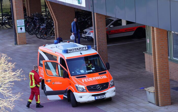 Ambulance Near Hospital in Berlin, Germany