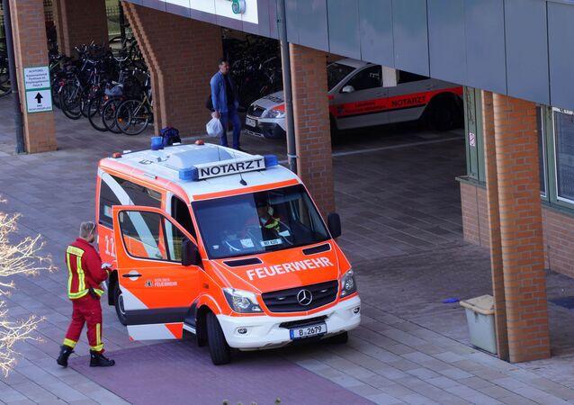 Ambulance Near Hospital in Berlin, Germany