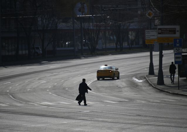 Empty street in Moscow