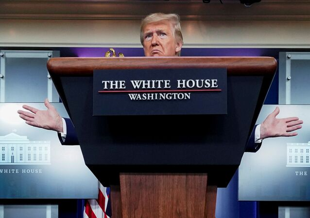 U.S. President Donald Trump speaks about the administration's response to the coronavirus disease (COVID-19) outbreak during the daily coronavirus task force briefing at the White House in Washington, U.S., April 5, 2020