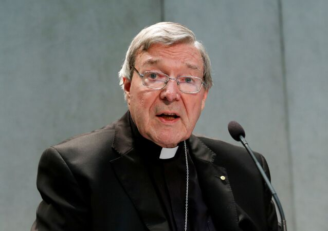 Cardinal George Pell attends a news conference at the Vatican, June 29, 2017.