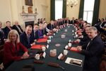Britain's Prime Minister Boris Johnson chairs his first meeting of the cabinet the day after a reshuffle at 10 Downing Street in central London on February 14, 2020