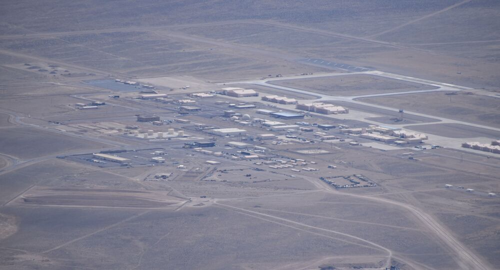 Aerial image of the Tonopah Test Range Airport recently captured by George Zeifman.