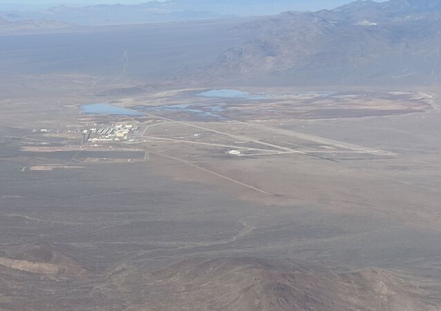 Zeifman's photo collection of the Nevada Test and Training Range also includes an image capturing the southern reaches of Area 51.