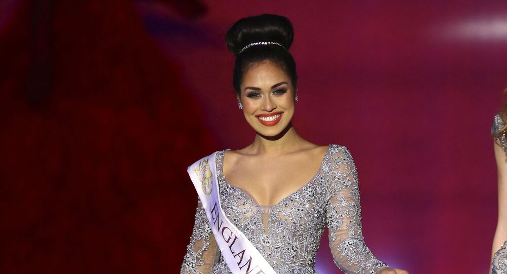 Miss England, Bhasha Mukherjee, performs at the 69th annual Miss World competition at the Excel centre in London Saturday, Dec 14, 2019, as 120 national representatives from around the world compete for the famous blue crown. Reigning Miss World, Vanessa Ponce de Leon from Mexico will crown her successor