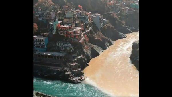 Confluence of the two distinct Alaknanda and Bhagirathi into an unified 'Ganga' at Devprayag - Sputnik International