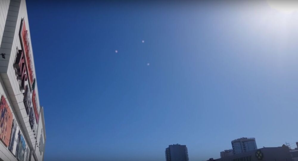 Mysterious objects over Tomsk