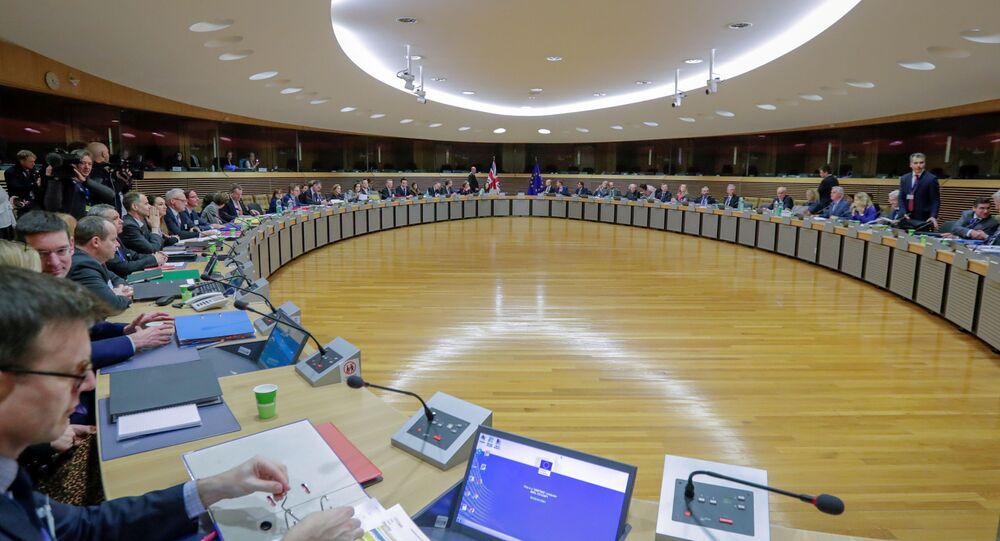 Start of the first round of post-Brexit trade deal talks between the EU and the United Kingdom, in Brussels, Belgium March 2, 2020