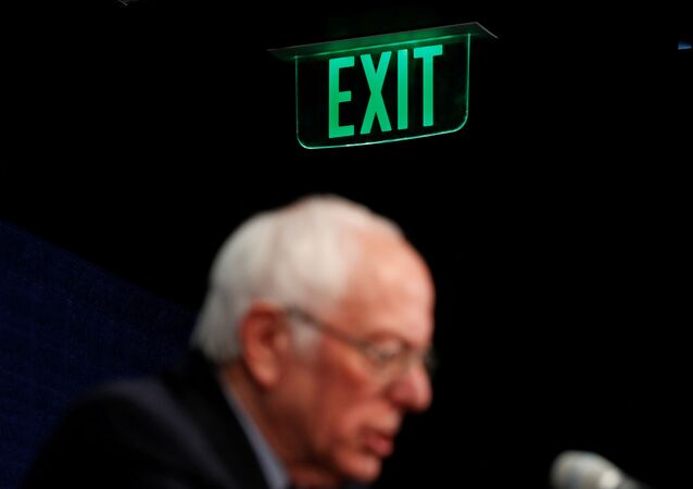 U.S. Democratic presidential candidate Senator Bernie Sanders announces that he will be continuing his campaign for U.S. president at least through his March 15 debate with former Vice President Joe Biden as he holds a news conference in Burlington, Vermont, U.S. March 11, 2020
