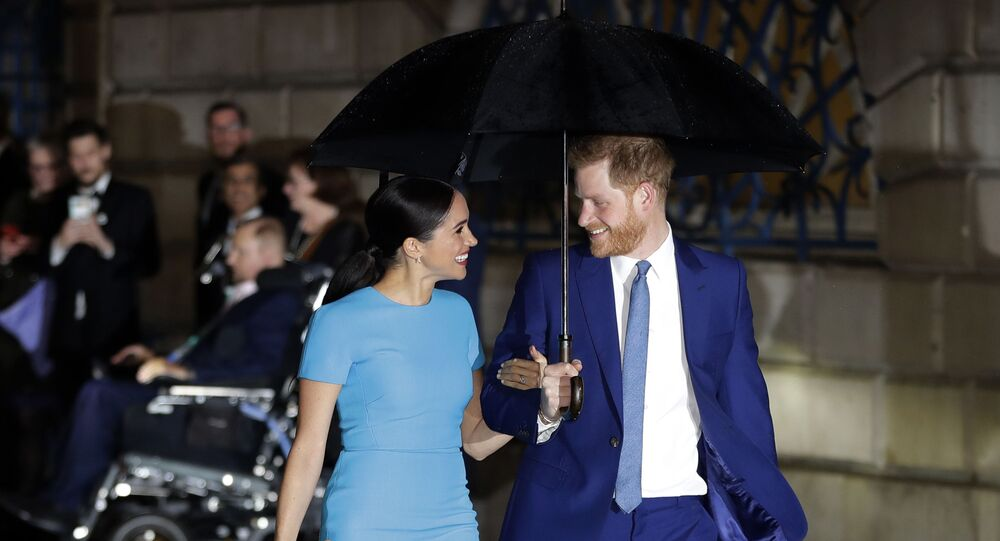 In this Thursday, March 5, 2020 file photo, Britain's Prince Harry and Meghan, the Duke and Duchess of Sussex arrive at the annual Endeavour Fund Awards in London. Prince Harry and his wife Meghan are ending their lives as senior members of Britain's royal family and starting an uncertain new chapter as international celebrities and charity patrons. In January the couple shocked Britain by announcing that they would step down from official duties, give up public funding, seek financial independence and swap the U.K. for North America.