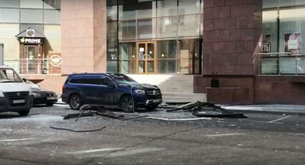 Explosion 09.04.2020 in Moscow in the business center on the 2nd Brestkaya