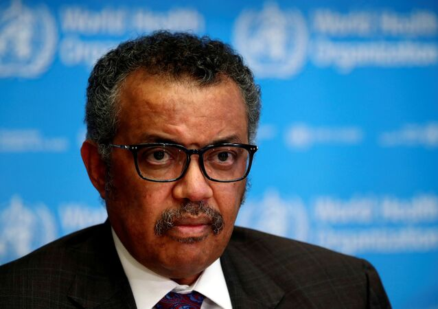Director General of the World Health Organization (WHO) Tedros Adhanom Ghebreyesus attends a news conference on the situation of the coronavirus (COVID-2019), in Geneva, Switzerland, February 28, 2020