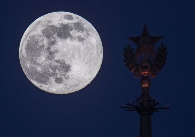 Supermoon in Moscow on 7 April 2020