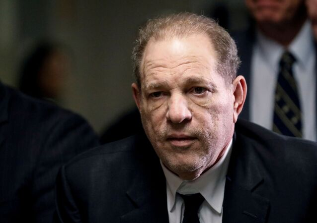 Film producer Harvey Weinstein departs Criminal Court on the first day of a sexual assault trial in the Manhattan borough of New York City, 6 January 2020