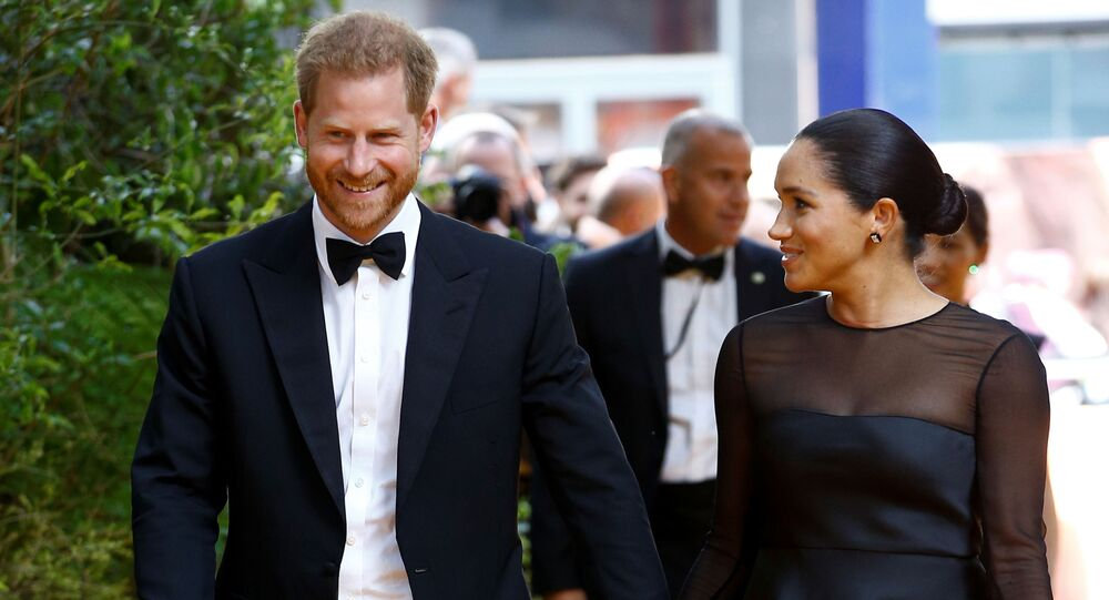 Britain's Prince Harry and Meghan, Duchess of Sussex attend the European premiere of The Lion King in London, Britain July 14, 2019.