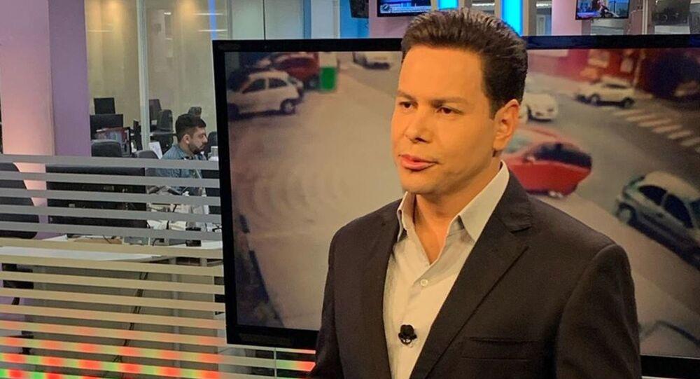 Brazilian TV news anchor Marcao do Povo