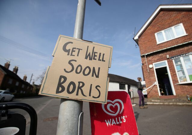 A sign of support for British Prime Minister Boris Johnson