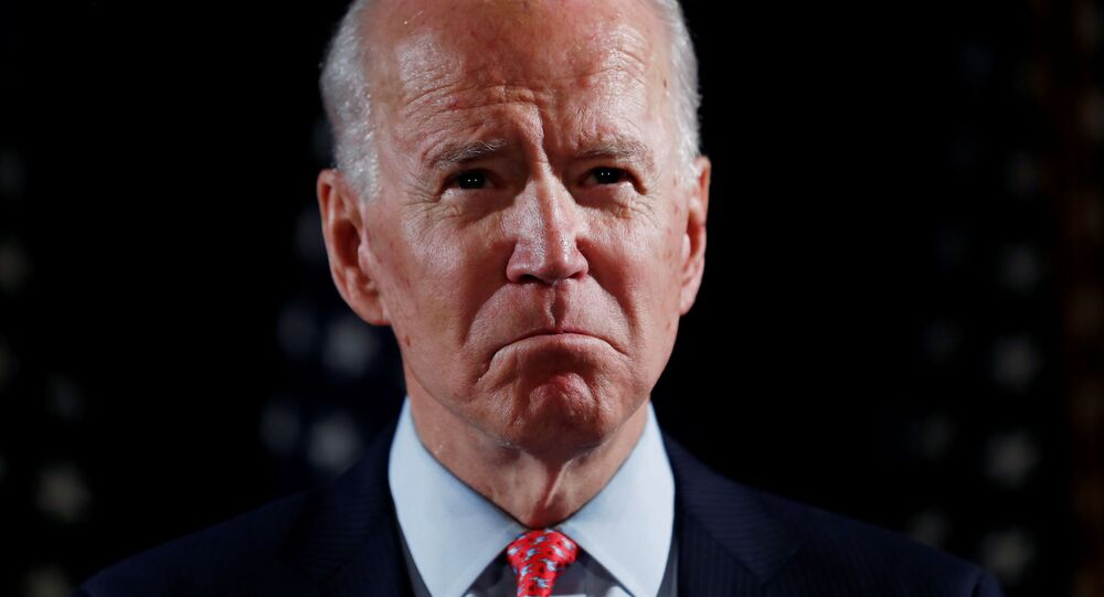Democratic U.S. presidential candidate and former Vice President Joe Biden speaks about responses to the COVID-19 coronavirus pandemic at an event in Wilmington, Delaware, U.S., March 12, 2020.