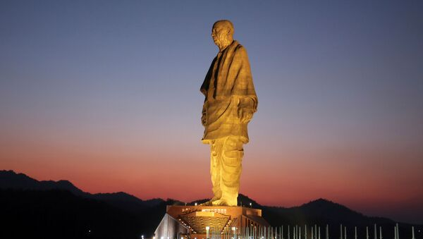 FILE PHOTO: General view of the Statue of Unity portraying Sardar Vallabhbhai Patel, one of the founding fathers of India, during its inauguration in Kevadia, in the western state of Gujarat, India, October 31, 2018. - Sputnik International