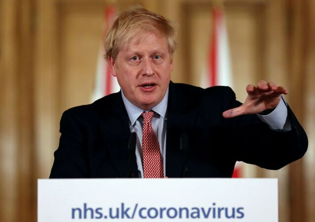 British Prime Minister Boris Johnson holds a news conference addressing the government's response to the coronavirus outbreak, at Downing Street in London, Britain March 12, 2020.