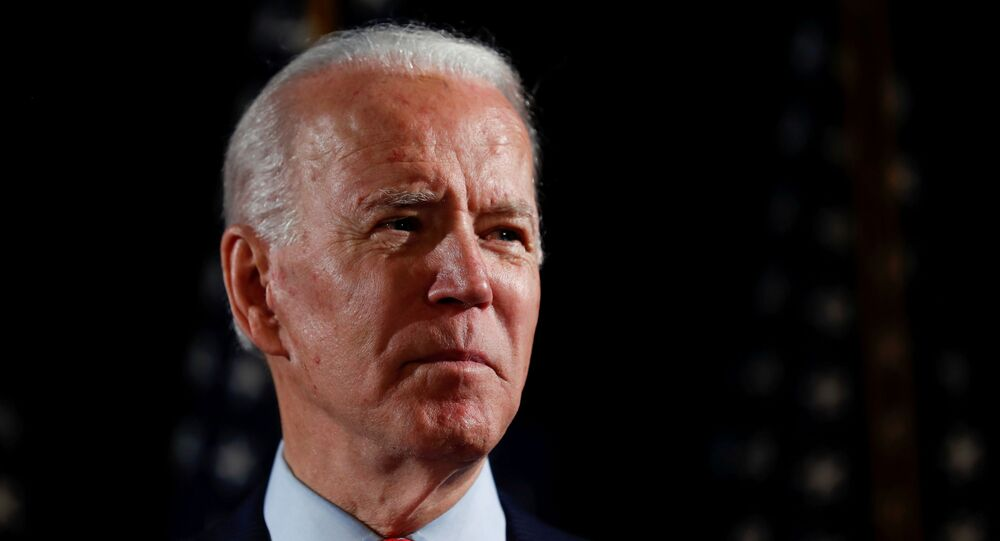 Democratic U.S. presidential candidate and former Vice President Joe Biden speaks about responses to the COVID-19 coronavirus pandemic at an event in Wilmington, Delaware, U.S., March 12, 2020