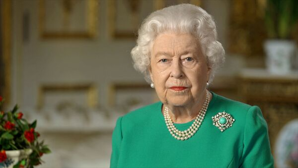 Buckingham Palace handout image of Britain's Queen Elizabeth during her address to the nation and the Commonwealth in relation to the coronavirus epidemic (COVID-19), recorded at Windsor Castle, Britain April 5, 2020 - Sputnik International
