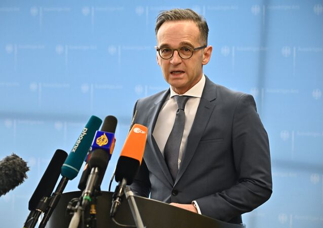 German Foreign Minister Heiko Maas addresses the media at the Foreign Ministry in Berlin on March 17, 2020, to comment on the situation concerning the spread of the novel coronavirus.