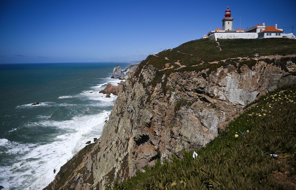 The westernmost point of Eurasia is Cape Roca in Portugal. The cape is located 40 kilometers west of Lisbon, 18 km from Sintra in the Sintra Cascais National Park. The cliff rises 140 meters above the level of the Atlantic Ocean.