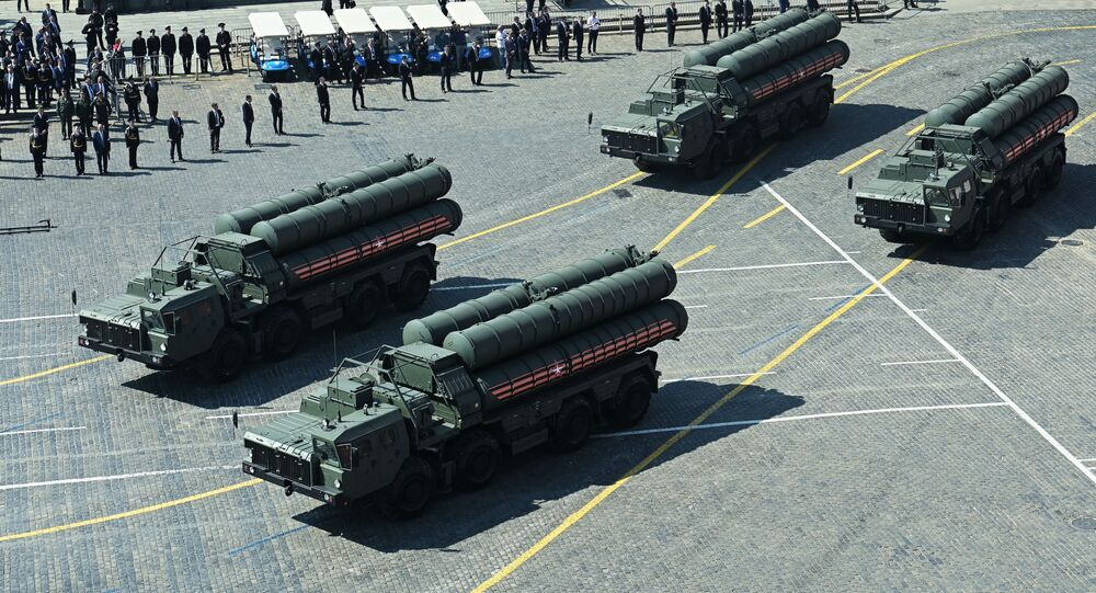 S-400 missile defence systems at the repetition of the Victory Day Parade, May 2019.