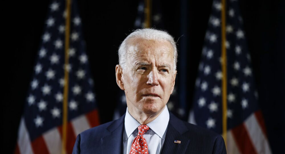 Democratic presidential candidate former Vice President Joe Biden speaks about the coronavirus Thursday, March 12, 2020, in Wilmington, Del.