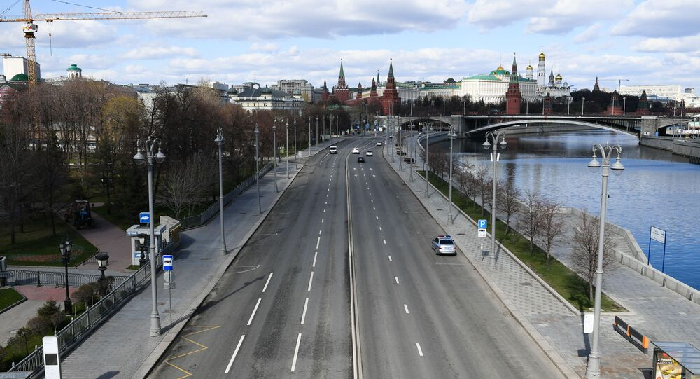 Moscow during the regime of self-isolation