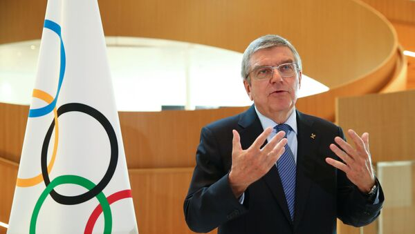 Thomas Bach, President of the International Olympic Committee (IOC) attends an interview after the decision to postpone the Tokyo 2020 because of the coronavirus disease (COVID-19) outbreak, in Lausanne, Switzerland, March 25, 2020. - Sputnik International