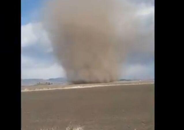Colossal Dust Devil Rips Through Idaho